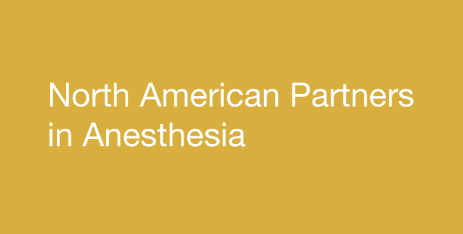 North American Partners in Anesthesia in white text with blue background
